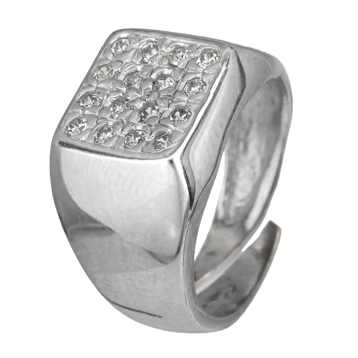 Ασημένιο σεβαλιέ δαχτυλίδι 925 ASD324B Ασήμι