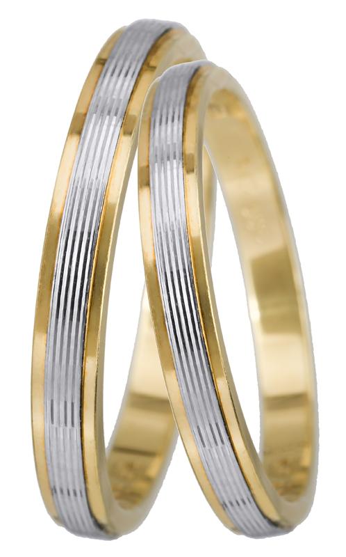 Βέρα δίχρωμη 14Κ BR0105 Χρυσός 14 Καράτια