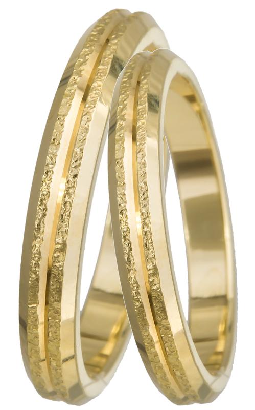 Βέρες Χρυσές με Σφυρήλατο Σχέδιο K14 BR0210 Χρυσός 14 Καράτια