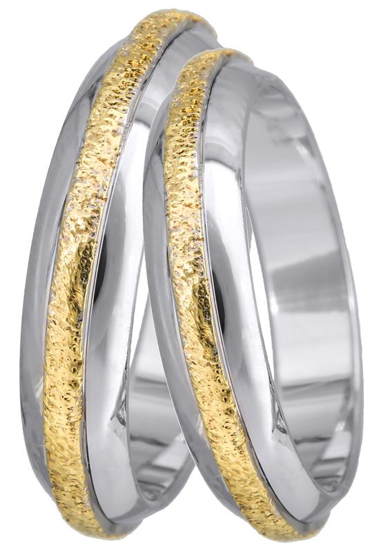Δίχρωμη Βέρα Κ14 BR0252 Χρυσός 14 Καράτια
