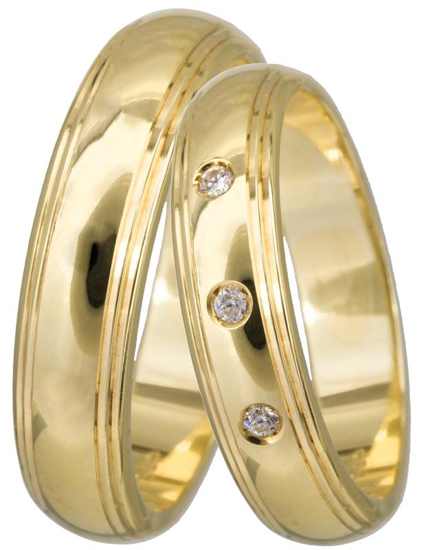 Χρυσή βέρα Κ14 BR0260 Χρυσός 14 Καράτια