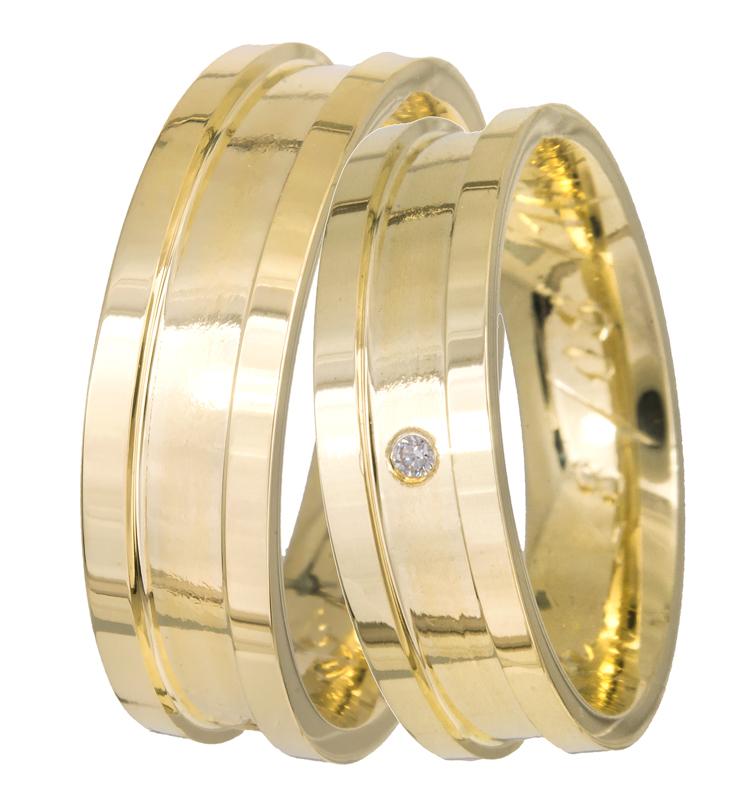 Βέρες γάμου χρυσές K14 BR0318K BR0318K Χρυσός 14 Καράτια μεμονωμένο τεμάχιο eba1309e238