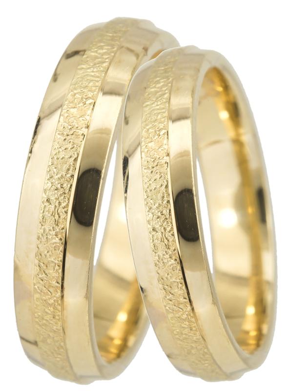 Σκαλιστές Βέρες BR0353 Χρυσός 14 Καράτια