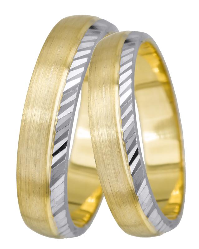 Δίχρωμες βέρες γάμου 9Κ 024608 024608 Χρυσός 9 Καράτια