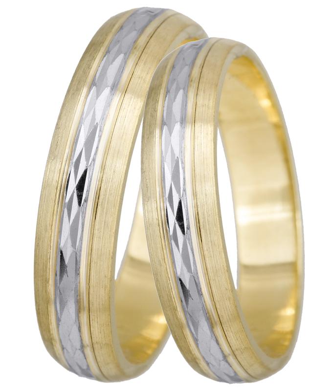 Βέρες γάμου τιμές BRS0195D Χρυσός 14 Καράτια