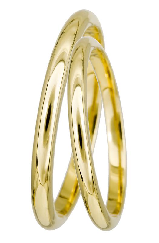 Χρυσή βέρα Κ14 BRS02 Χρυσός 14 Καράτια