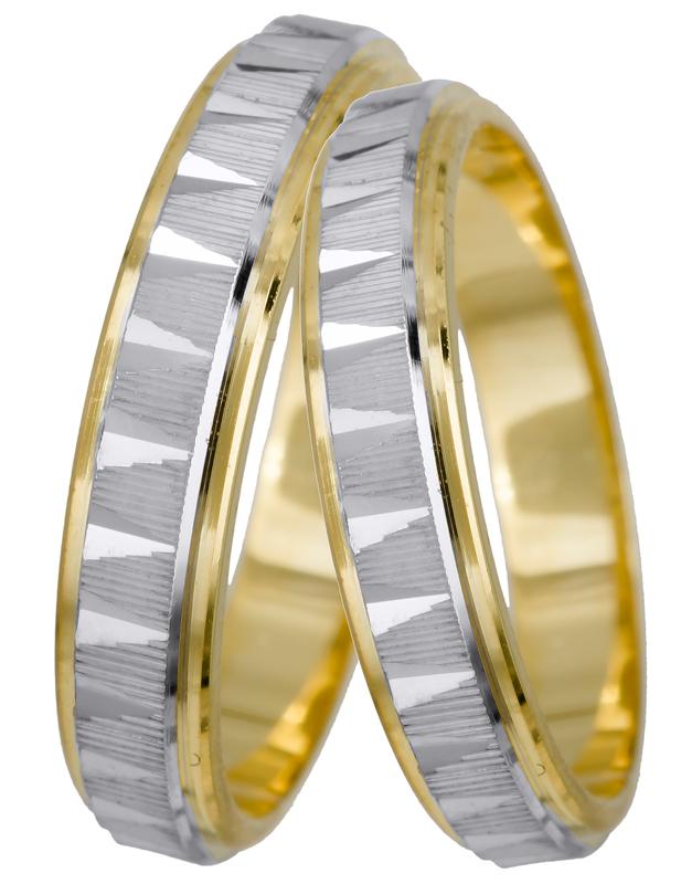 Βέρα δίχρωμη 14Κ BRS022D Χρυσός 14 Καράτια
