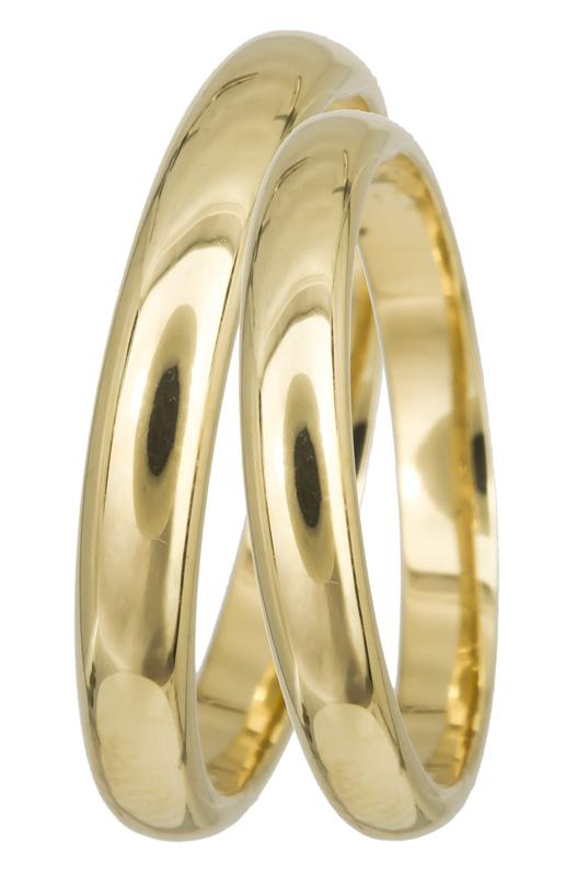 Χρυσή βέρα Κ14 BRS03 Χρυσός 14 Καράτια