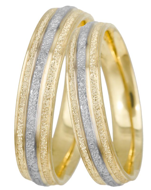 Βέρες γάμου δίχρωμες Κ14 BRS0617D BRS0617D Χρυσός 14 Καράτια