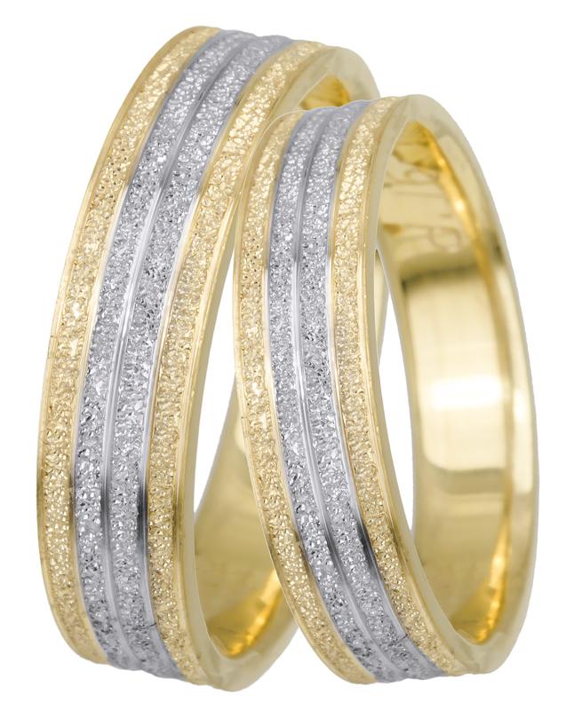 Βέρες γάμου δίχρωμες Κ14 BRS0640D BRS0640D Χρυσός 14 Καράτια