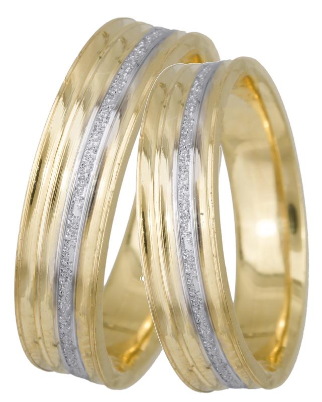Βέρες γάμου δίχρωμες BRS0646D BRS0646D Χρυσός 14 Καράτια