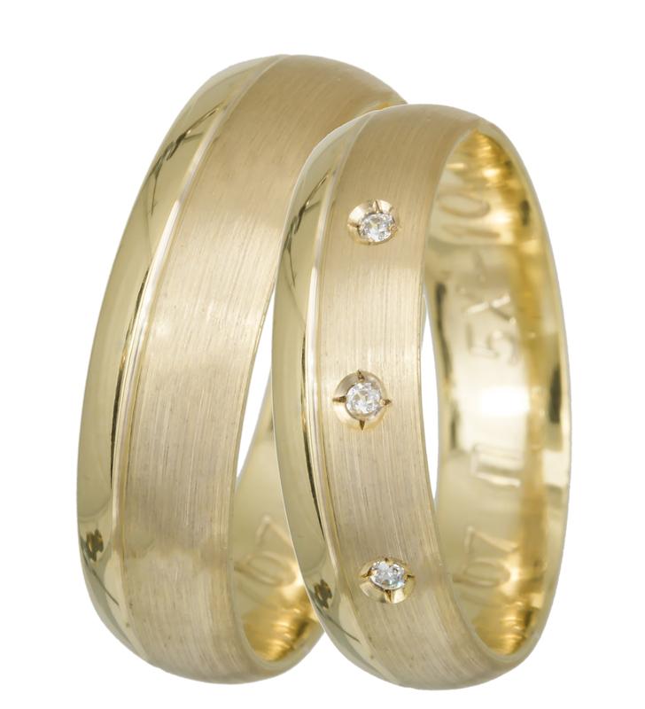 Χρυσές Βέρες Ματ Γάμου Κ14 BRS0707 BRS0707PK Χρυσός 14 Καράτια