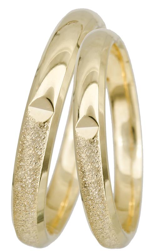 Βέρες κλασικές BRS0922 Χρυσός 14 Καράτια