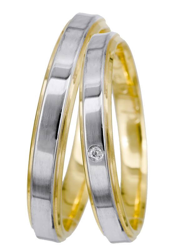 Βέρες γάμου 14Κ BRS0933D BRS0933D Χρυσός 14 Καράτια