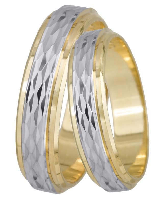 Βέρες γάμου δίχρωμες Κ14 BRS095D BRS095D Χρυσός 14 Καράτια