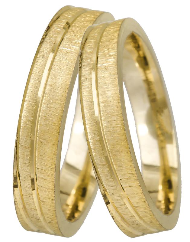 Ματ χρυσές βέρες 9Κ 9BR0359 9BR0359 Χρυσός 9 Καράτια