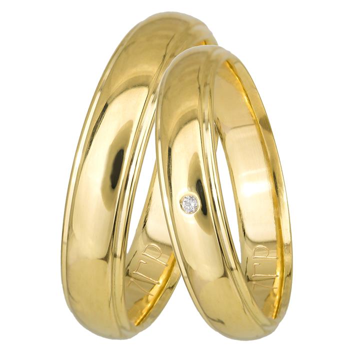 Βέρες χρυσές κλασικές BRS099P BRS099P Χρυσός 14 Καράτια