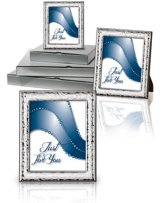 Ασημένιες κορνίζες σετ 019906 019906 Ασήμι προτάσεις δώρου ασημένιες κορνίζες