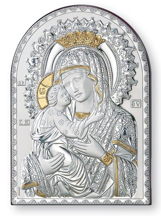 Ασημένια εικόνα Παναγία η Βρεφοκρατούσα 019556 019556 Ασήμι προτάσεις δώρου ασημένιες εικόνες