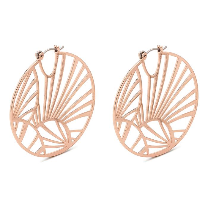 Σκουλαρίκια κρεμαστά ροζ χρυσό Pilgrim 101924033 101924033 Ορείχαλκος