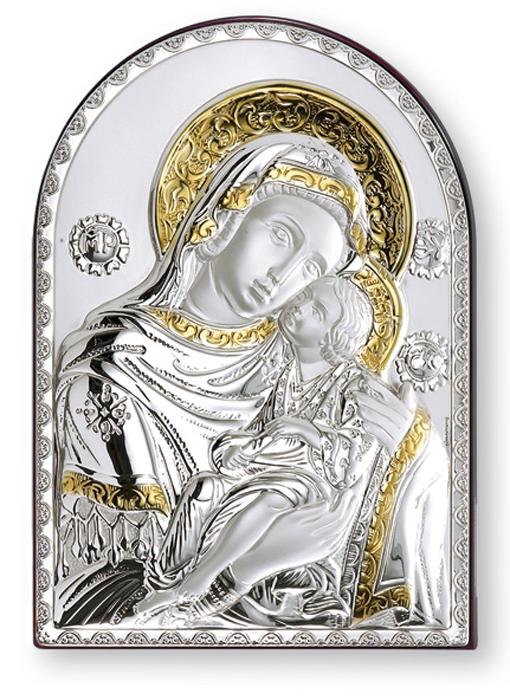 Ασημένια εικόνα Παναγία η Γλυκοφιλούσα 019555 019555 Ασήμι προτάσεις δώρου ασημένιες εικόνες