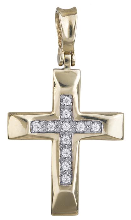 Σταυροί Βάπτισης - Αρραβώνα Χρυσός σταυρός 14Κ 011537 011537 Γυναικείο Χρυσός 14 Καράτια