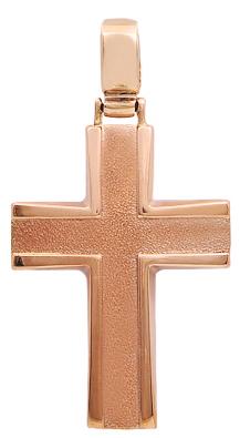 Σταυροί Βάπτισης - Αρραβώνα Ροζ χρυσός σταυρός 14Κ 011911 011911 Ανδρικό Χρυσός 14 Καράτια