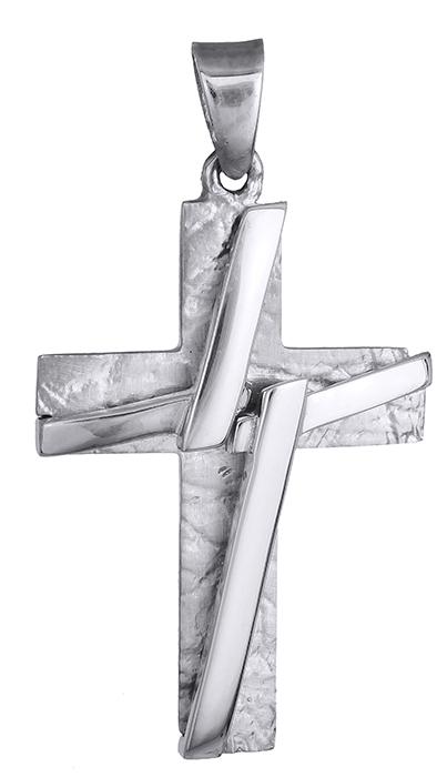 Σταυροί Βάπτισης - Αρραβώνα Σταυρός αντρικός λευκόχρυσος 14Κ 011989 011989 Ανδρικό Χρυσός 14 Καράτια