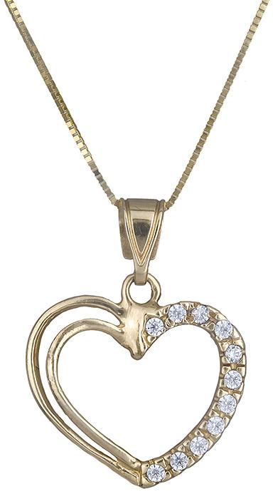 Κολιέ με χρυσή καρδιά Κ14 001225 001225 Χρυσός 14 Καράτια