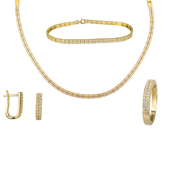 Χρυσό χειροποίητο σετ ίσιο σειρέ 14Κ SET024478 SET024478 Χρυσός 14 Καράτια