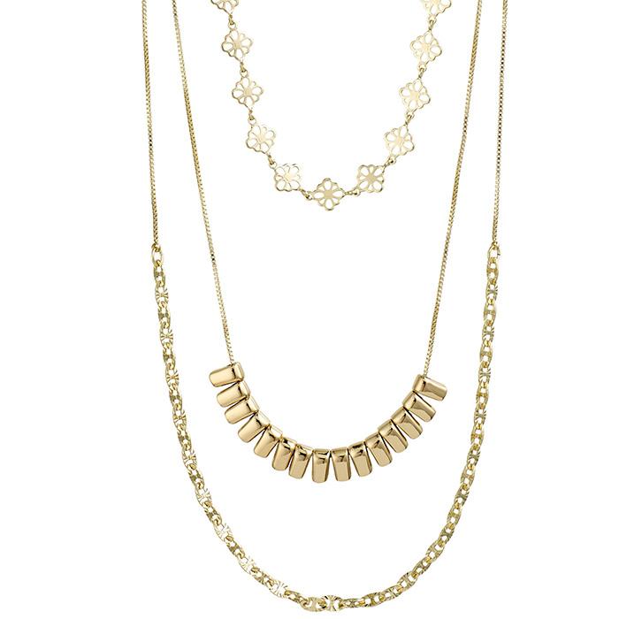Triple Necklace Pilgrim Joy 132022021 132022021 Ορείχαλκος
