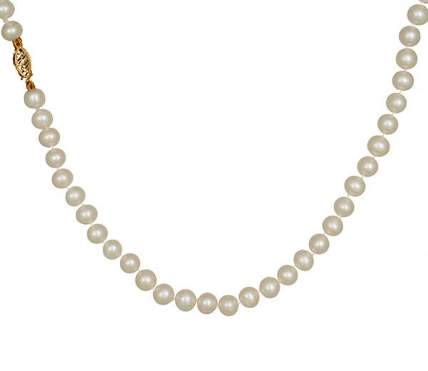 Κολιέ με μαργαριτάρια Κ14 013205 013205 Χρυσός 14 Καράτια