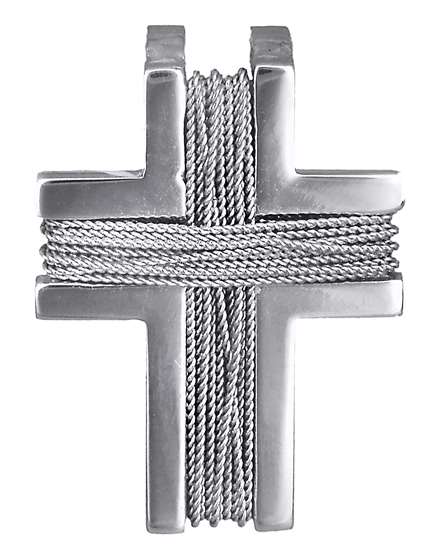 Σταυροί Βάπτισης - Αρραβώνα Λευκόχρυσος Σταυρός με σύρμα Κ14 013926 013926 Ανδρικό Χρυσός 14 Καράτια