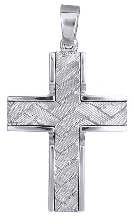 Σταυροί Βάπτισης - Αρραβώνα ΛΕΥΚΟΧΡΥΣΟΣ ΣΤΑΥΡΟΣ 14Κ 014198 014198 Ανδρικό Χρυσός 14 Καράτια