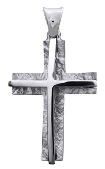 Σταυροί Βάπτισης - Αρραβώνα Λευκόχρυσος Σταυρός 14K Αντρικός 014846 014846 Ανδρικό Χρυσός 14 Καράτια