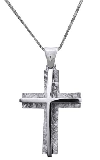 Βαπτιστικοί Σταυροί με Αλυσίδα ΛΕΥΚΟΧΡΥΣΟΣ ΣΤΑΥΡΟΣ ΜΕ ΑΛΥΣΙΔΑ 14K 014846C Ανδρικό Χρυσός 14 Καράτια