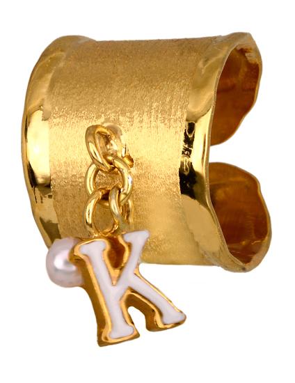 Σεβαλιέ επίχρυσο δαχτυλίδι με μονόγραμμα 925 014886 014886 Ασήμι