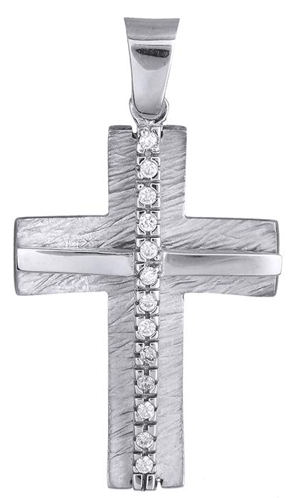 Σταυροί Βάπτισης - Αρραβώνα ΓΥΝΑΙΚΕΙΟΣ ΣΤΑΥΡΟΣ ΛΕΥΚΟΧΡΥΣΟΣ 014966 014966 Γυναικείο Χρυσός 14 Καράτια
