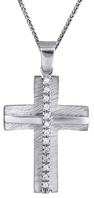 Βαπτιστικοί Σταυροί με Αλυσίδα Είδη Βάπτισης για Κορίτσι c014966 014966C Γυναικείο Χρυσός 14 Καράτια