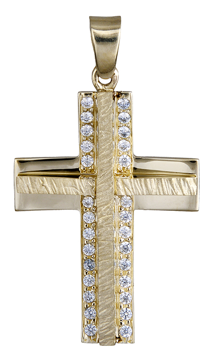 Σταυροί Βάπτισης - Αρραβώνα ΧΡΥΣΟΣ ΣΤΑΥΡΟΣ 9Κ ΠΕΤΡΑΤΟΣ 014909 Γυναικείο Χρυσός 9 Καράτια