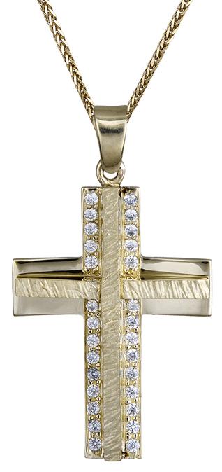 Βαπτιστικοί Σταυροί με Αλυσίδα ΓΥΝΑΙΚΕΙΟΣ ΧΡΥΣΟΣ ΣΤΑΥΡΟΣ 9Κ ΜΕ ΑΛΥΣΙΔΑ 014909C Γυναικείο Χρυσός 9 Καράτια
