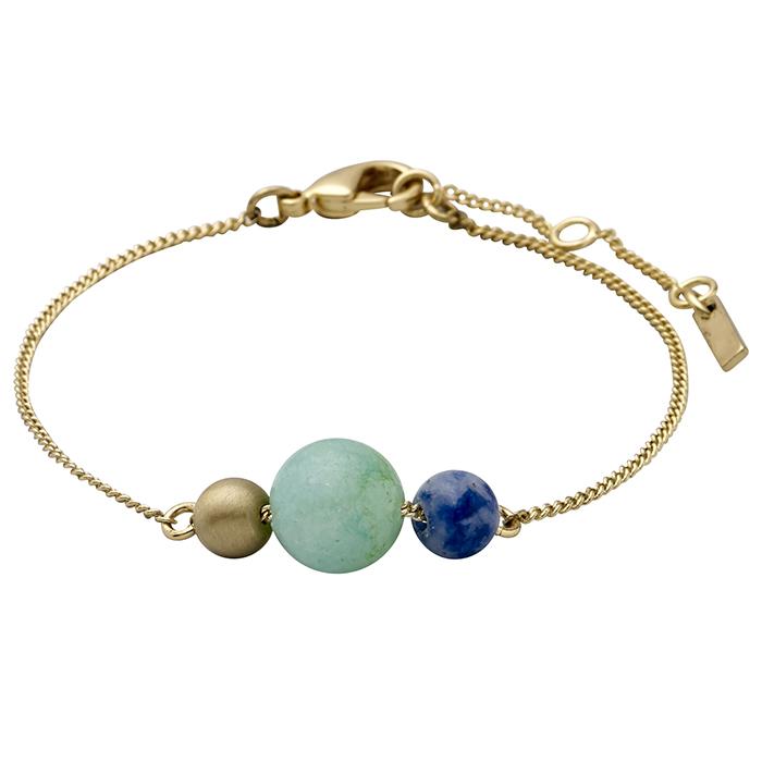 Επίχρυσο βραχιόλι με πέτρες Pilgrim 151712402 151712402 Ορείχαλκος fashion jewels pilgrim βραχιόλια   χειροπέδες