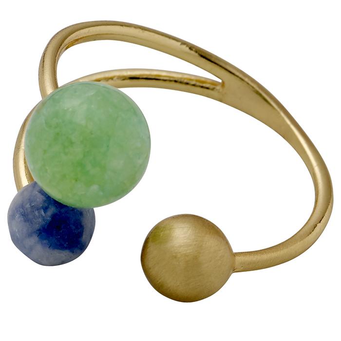 Επίχρυσο δαχτυλίδι Green Pilgrim 151712404 151712404 Ορείχαλκος fashion jewels pilgrim δαχτυλίδια