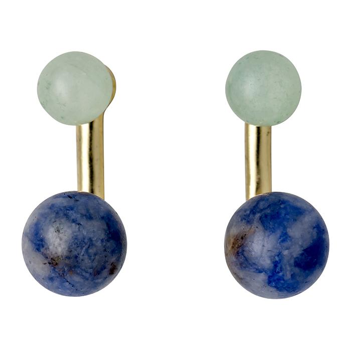 Επίχρυσα σκουλαρίκια Green Pilgrim 151712413 151712413 Ορείχαλκος fashion jewels pilgrim σκουλαρίκια