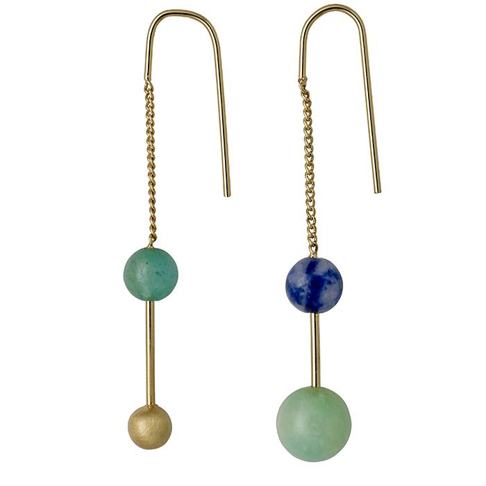 Γυναικεία σκουλαρίκια Green Pilgrim 151712423 151712423 Ορείχαλκος