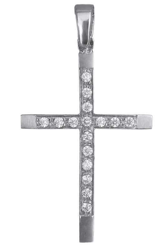 Λευκόχρυσος σταυρός Κ9 013920 013920 Χρυσός 9 Καράτια χρυσά κοσμήματα σταυροί