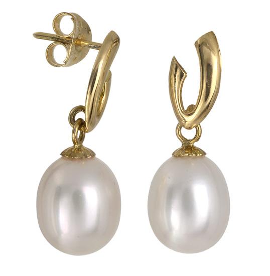 Σκουλαρίκια με μαργαριτάρια 017431 017431 Χρυσός 18 Καράτια χρυσά κοσμήματα σκουλαρίκια καρφωτά