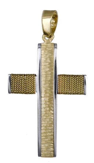 Σταυροί Βάπτισης - Αρραβώνα Ανδρικός σταυρός 017700 017700 Ανδρικό Χρυσός 14 Καράτια