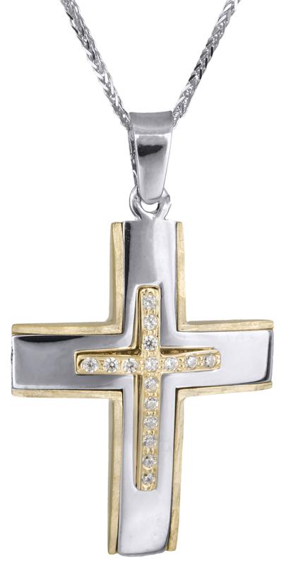 Βαπτιστικοί Σταυροί με Αλυσίδα Βαπτιστικός σταυρός για κορίτσι 14Κ C017930 017930C Γυναικείο Χρυσός 14 Καράτια