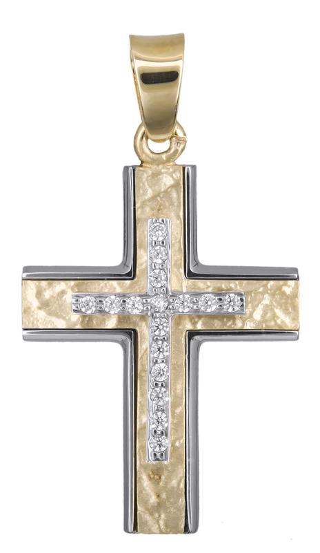 Σταυροί Βάπτισης - Αρραβώνα Γυναικείος σταυρός 018163 018163 Γυναικείο Χρυσός 14 σταυροί βάπτισης   γάμου σταυροί βάπτισης   αρραβώνα